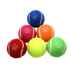 Dog Life Tennisbollar (paket med 6) One Size Flerfärgade