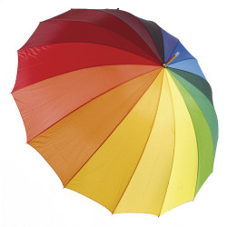 Drizzles Rainbow Golf Paraply One Size Regnbåge