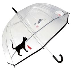 Drizzles Vuxna Unisex Dome Cat-paraply One Size Svart
