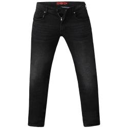 Duke Herr Benson King Size Tapered Fit Stretch Jeans 60L Grå ste