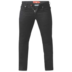 Duke Herr Claude Slim Fit Stretch Jeans 32R Svart