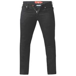Duke Herr Claude Stretch Tapered Jeans 44XL Svart
