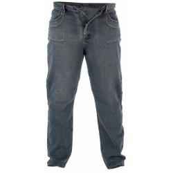 Duke Mens Rockford Kingsize Comfort Fit Jeans 50L Dirty Denim Dirty Denim 50L