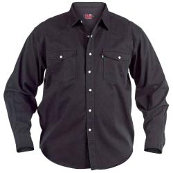 Duke Kingsize Western Denim Shirt för herrar 4XL Svart