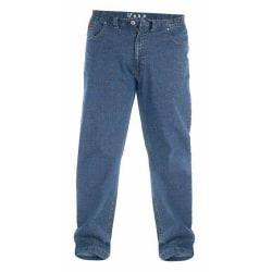 Duke London Mens Kingsize Bailey Elasticated Waist Jeans 52R Blå