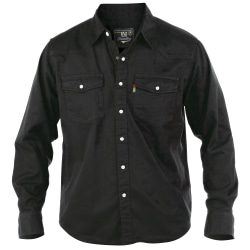Duke Män Western Denim Button Down Shirt XX-Large Svart