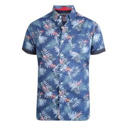 Duke Reuben Kingsize Hawaiian Leaf Shirt för herrar XXL Marin
