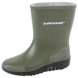 Dunlop Mini Child Wellies 7 Child UK Grön / svart