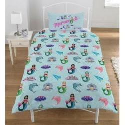Emoji Unicorns And Mermaids Reversible Single Duvet Set One Size