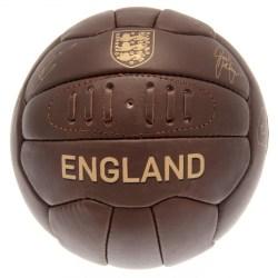 England FA Läder Retro Heritage Fotboll One Size Brun