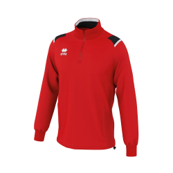 Errea Herr Lars Zip Neck Warm-Up Top M Röd svart