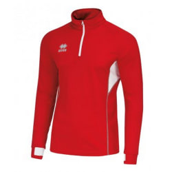 Errea Unisex Fartlek Zip Neck Top XXL Röd vit