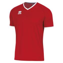 Errea Unisex Lennox kortärmad T-shirt XXL Röd vit