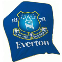 Everton FC Fleece filt One Size Blå