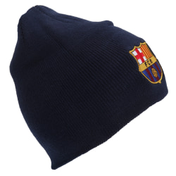 FC Barcelona Officiell Core Winter Football Crest Beanie Hat One