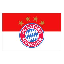 FC Bayern Münchens officiella fotbollsstödssupport One Size Vit