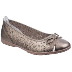 Fleet & Foster Dam / Dam Lagune Läder Ballerina Skor Gold 5 UK