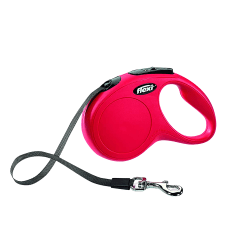 Flexi Classic Tape Dog Lead - 5m Medium Röd