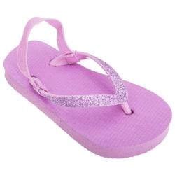 FLOSO Barnflickor Vanliga tåar med flip flops med glitterrem UK