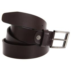 FLOSO Läderfodrad bälte för män 38-40in / 97-102cm Brun