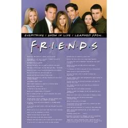 Friends Allt jag vet Poster One Size Blå