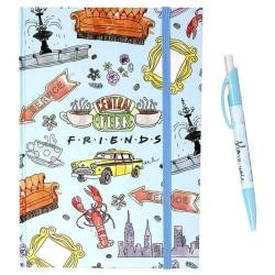 Friends Anteckningsbok och pennuppsättning One Size Flerfärgade