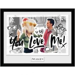 Friends Du älskar mig inramad affisch One Size Flerfärgade