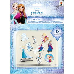 Frozen Magnetuppsättning för kylskåp (paket med 18) One Size Blå