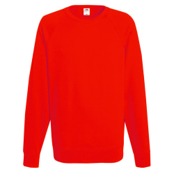 Fruit of the Loom Raglan tröja för herrar (240 GSM) 2XL Röd