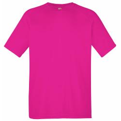 Fruit of the Loom T-shirt för sportkläder för herrar L Fuchsia