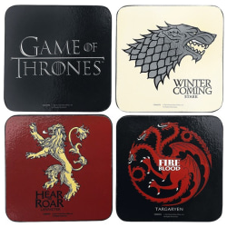 Game Of Thrones Coaster Set One size Flerfärgade