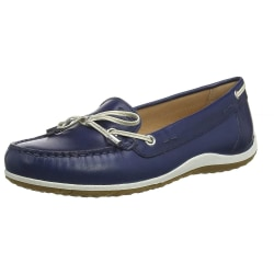 Geox Damer / damer D Vega läderskor 5 UK Blå / Skin
