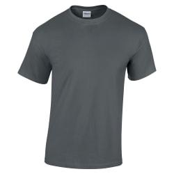 Gildan T-shirt med korta ärmar i tung bomull 3XL Träkol
