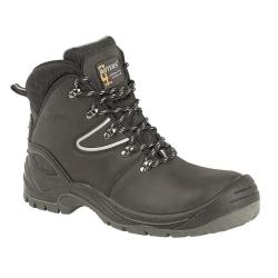 Grafters Action-belagd läderlackad vandringsstövel för män 12 UK
