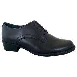 Grafters Dam / vanlig dam 4 ögon enhetlig sko 6 UK Svart