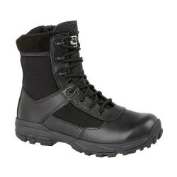 Grafters Herr läder Combat stövlar 9 UK Svart
