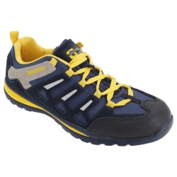 Grafters Herrmocka Säkerhet Toe Cap Trainer Shoes 4 UK Marinblå