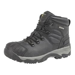 Grafters Män Buffalo Leather Hiker Type Safety Boots 14 UK Svart