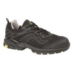 Grafters Mäns säkerhetstränare sko bred fit 41 Svart Multi