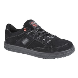 Grafters Mens skridskor Typ Toe Cap Safety Trainers 6 UK Svart