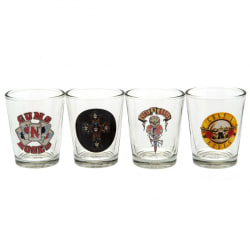 Guns N Roses Official Shot Glass Set (Pack Of 4) One Size Clear