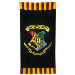 Harry Potter Hogwarts Beach Handduk One Size Svart