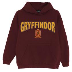 Harry Potter Boys Gryffindor Shield Hoodie 12-13 Years Burgundy