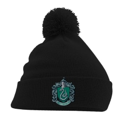 Harry Potter Slytherin Crest Pom Pom Beanie One Size Svart