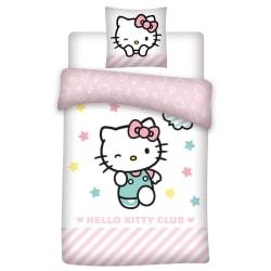 Hello Kitty Täcke set Single Vit / babyrosa