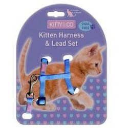 Hem & Boo Snag Free Kitten Harness One Size Kan variera