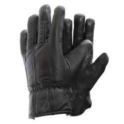 Herrhandskar av äkta läder från mjuka får M/L Svart