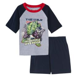 Hulk Pojkar kort pyjamaset 5-6 Years Grå / svart