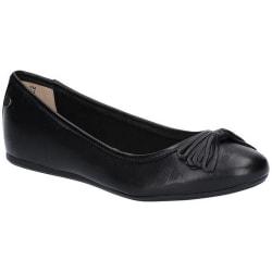 Hush Puppies Womens / Ladies Heather Bow Leather Ballet Shoes 5 UK Black 5 UK