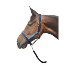 Hy Metallic Look Head Collar Pony Mörkblå / ljusblå